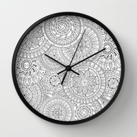 Circle Doodle Art Wall Clock by Kate & Co.