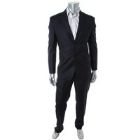 Yves Saint Laurent Mens Shadow Stripe Flat Front Two-Button Suit