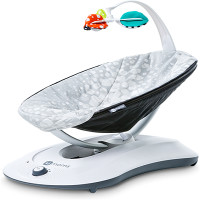 4 MOMS - RockaRoo - Lounger Bouncer -Plush Silver - $179.99 : POSH BABY - TAX Free Shopping on modern furniture, strollers, clothing, toys, gear, gifts and baby essentials since 2003 www.poshbaby.com