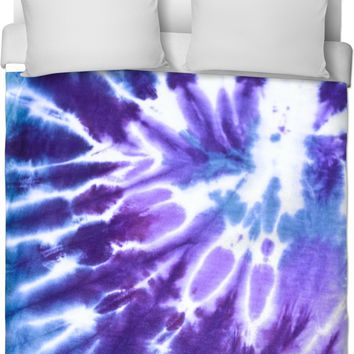 Purple And Blue Tie Dye Duvet Cover