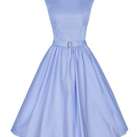 Lindy Bop 50's Audrey Hepburn Style Dress In Blue   Tiger Milly