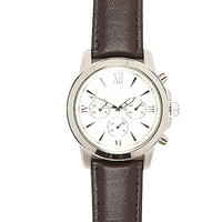 River Island MensDark brown Roman numeral watch