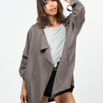Oversized Drapey Open Jacket