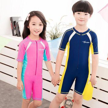 DCCKUH3 Child Swimwear One Piece Boys Girls Swimsuits Kids Bathing Suits Baby Swimsuit Girl Children Beach Wear Diving Swimming Suit