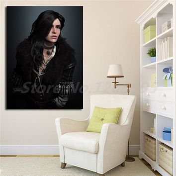 Lady Yennefer Portrait Of The Witcher 3 Wild Hunt HD Canvas Posters Prints Wall Art Painting Decorative Picture Home Decoration