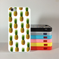 Pineapple iphone 5c case, iphone 5s case,iphone 5 case Silicon Rubber cover skin case for iphone 5/5c/5s case, phone case