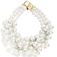 Kenneth Jay Lane Three Row Cultured Pearl Necklace by Kenneth Jay Lane - Moda Operandi