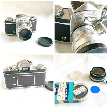 On Sale Vintage Camera, Exakta VXIIa Ihagee Dresden, Vintage 35mm camera, Cz Jenna Biotar lens