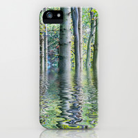 SERENE GREEN SCENE iPhone & iPod Case by catspaws