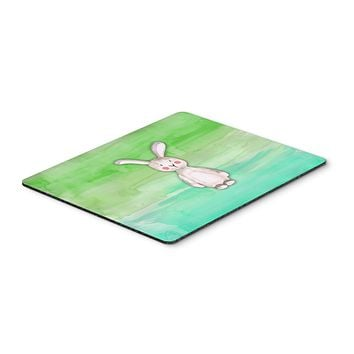 Bunny Rabbit Watercolor Mouse Pad, Hot Pad or Trivet BB7437MP