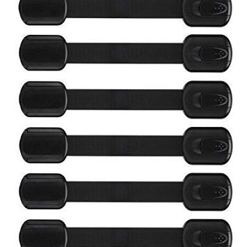 Baby Proofing Child Safety Locks | Adhesive Safety Latches-For Cabinets, Drawers, etc, 6 Pack