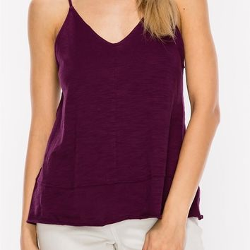 Eliana V-Neck Tank in Deep Purple