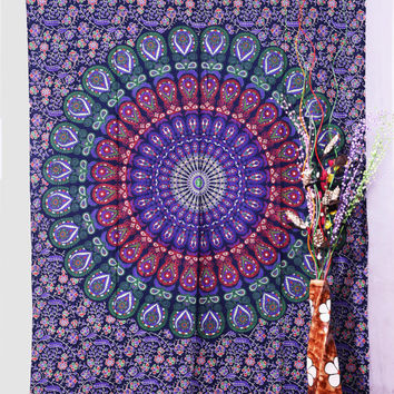 Indian Mandala Tapestry, Bohemian Wall Hanging Bohemian,Twin Tapestries Hippy Throw Decor Bedspreads, Sofa Hippie Wall Art..
