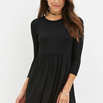 Raw-Hem Smock Dress