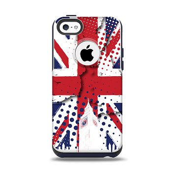 The Grunge Vector London England Flag Apple iPhone 5c Otterbox Commuter Case Skin Set
