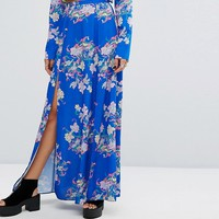 Reclaimed Vintage Inspired Split Front Maxi Skirt at asos.com