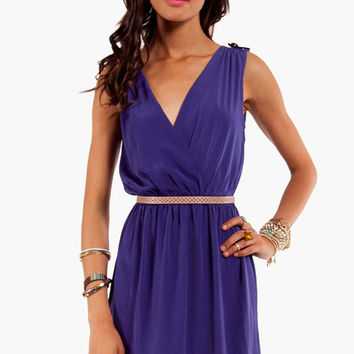Epaulette Wrap Dress