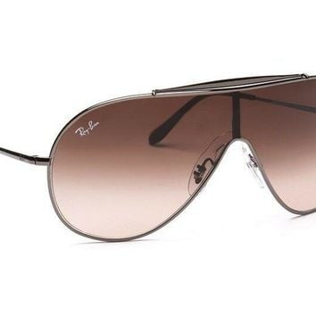 a70fc194de02 Ray-Ban RB3597 Wings 004 13 Gunmetal Brown Gradient Sunglasses New