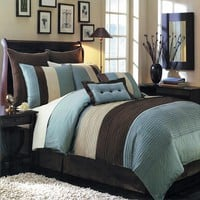 Blue Hudson Luxury 8-Piece comforter Set