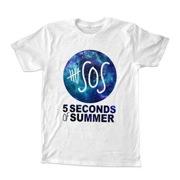 5 Second Of Summer Nebula t-shirt unisex adults