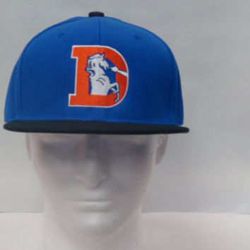 Denver Broncos Super Bowl Vintage / Old School logo embroidered on a fitted flat bill (brim ) hat/ cap Free Shipping!