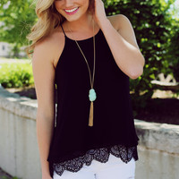 Hibiscus Honey Tank - Black