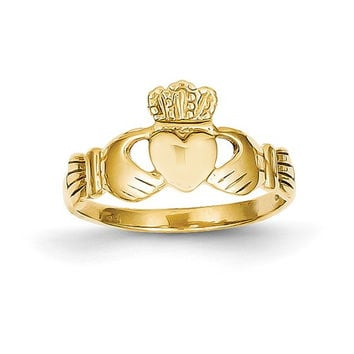 14k Yellow Gold Ladie's Claddagh Ring
