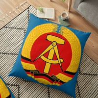 'Deutsche Demokratische Republik' Floor Pillow by planetterra