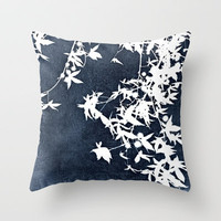 blue Throw Pillow by ingz