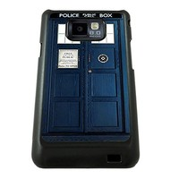 Tardis Doctor Who Samsung Galaxy S2 case black AT&T SGH-i777 canadian & international i9100