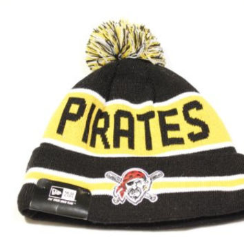 New Era The Coach Style Pittsburgh Pirates Cuffed w/ Pom Knit/Beanie Hat!!