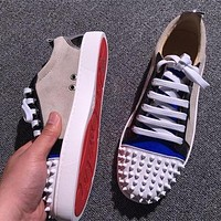 Cl Christian Louboutin Low Style #2062 Sneakers Fashion Shoes