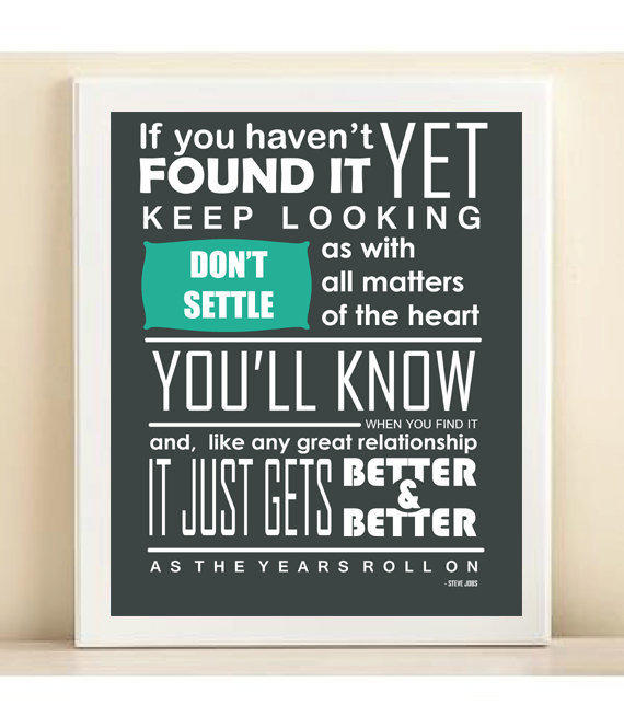 Steve Jobs Famous Quote Typography Print Matters by PlayOnWordsArt