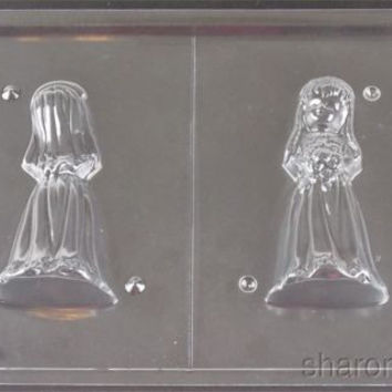 3D Bride Chocolate Mold Wedding Dress My Cupcake W43 Candy Making Supply Soap