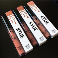 New Lipgloss Kylie Lip Kit by kylie Jenner Lipstick With Lip Gloss Liquid Matt Lasting Makeup 12 Colors Lip Liner Brand