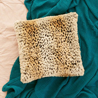 Leopard Faux Fur Pillow - Urban Outfitters