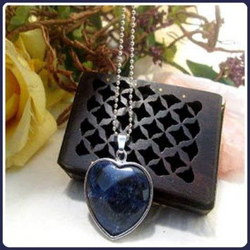 """Enlightening"" Lapis Lazuli Heart Necklace Box Set"