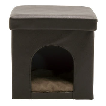Studio Designs Collapsible Pet Bed and Ottoman - Brown