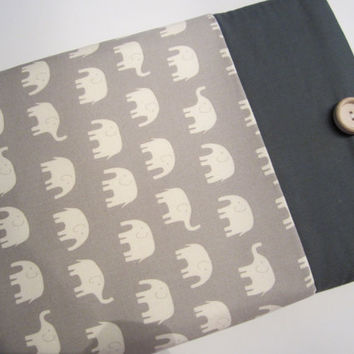 "Macbook Pro 13 Sleeve MAC Macbook Air / Pro 13"" inch Laptop Computer Case Cover Outer Pocket Grey Elephants"