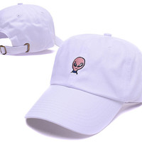 White Funny Baseball Cap Hat Hip Hop Alien Dad Hat respect Strap back Fishing Daddy Cap Adjustable Strap Back Trucker Bone