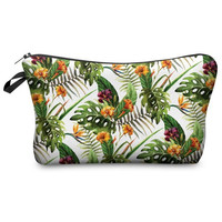 Tropical Print Makeup Bag