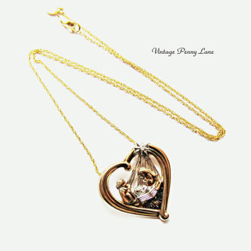 925 Baby Jesus Pendant, Gold Filled Chain Necklace