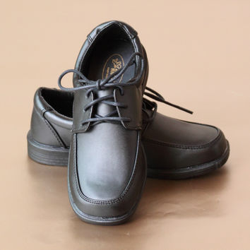 Angel Boys Leather Moc Toe Lace Up Shoe