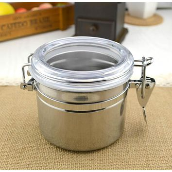 Stainless steel sealed cans coffee beans storage tank milk tea snacks dried fruit storage bottles