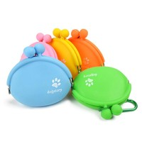 KIMHOME Pet Dog Walking Food Treat Snacks Bag Outdoor Silicone Dog Training Food Storage Pockets Pouch Waist Storage Hold