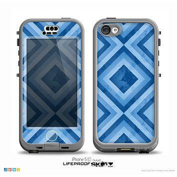 The Blue Diamond Pattern Skin for the iPhone 5c nüüd LifeProof Case