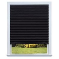 Shop Redi Shade Black Blackout Cordless Paper Pleated Shade (Common 36.0-in; Actual: 36.0-in x 72.0-in) at Lowes.com