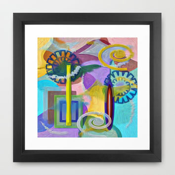 COLOR BOMB Framed Art Print by Robleedesigns