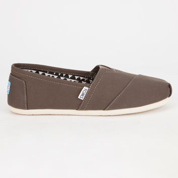Toms Womens Canvas Classic Slip-Ons Tarmac Olive  In Sizes