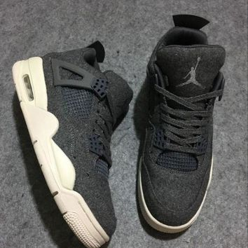 PEAPN Ready Stock' aj4 air jordan 4 'wool' Men Sneaker